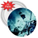 Dark Glass Explosion Goth Punk Fantasy 3  Button (10 pack)