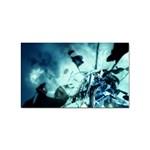 Dark Glass Explosion Goth Punk Fantasy Sticker Rectangular (10 pack)