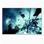 Dark Glass Explosion Goth Punk Fantasy Postcard 4  x 6
