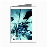 Dark Glass Explosion Goth Punk Fantasy Mini Greeting Card
