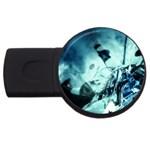 Dark Glass Explosion Goth Punk Fantasy USB Flash Drive Round (2 GB)