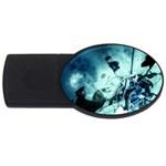 Dark Glass Explosion Goth Punk Fantasy USB Flash Drive Oval (2 GB)
