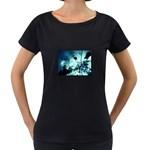 Dark Glass Explosion Goth Punk Fantasy Maternity Black T-Shirt