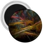 Pastel Spikes on Black Fractal 3  Magnet