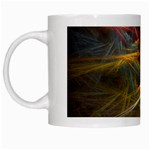 Pastel Spikes on Black Fractal White Mug