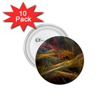 Pastel Spikes on Black Fractal 1.75  Button (10 pack)