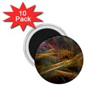 Pastel Spikes on Black Fractal 1.75  Magnet (10 pack)
