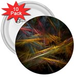Pastel Spikes on Black Fractal 3  Button (10 pack)
