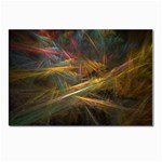 Pastel Spikes on Black Fractal Postcard 4 x 6  (Pkg of 10)