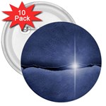 Light in The Wall Goth Punk Fantasy 3  Button (10 pack)