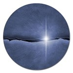 Light in The Wall Goth Punk Fantasy Magnet 5  (Round)