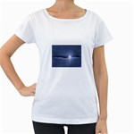 Light in The Wall Goth Punk Fantasy Maternity White T-Shirt
