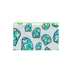 Brilliant Diamond Green Blue White Cosmetic Bag (xs) by Mariart