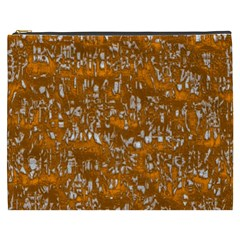 Glossy Abstract Orange Cosmetic Bag (xxxl)  by MoreColorsinLife