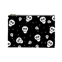 Skull Pattern Cosmetic Bag (large)  by BangZart