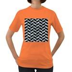 CHEVRON1 BLACK MARBLE & ICE CRYSTALS Women s Dark T-Shirt