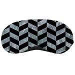 CHEVRON1 BLACK MARBLE & ICE CRYSTALS Sleeping Masks