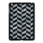 CHEVRON1 BLACK MARBLE & ICE CRYSTALS Apple iPad Mini Case (Black)