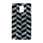 CHEVRON1 BLACK MARBLE & ICE CRYSTALS Samsung Galaxy Note 4 Hardshell Case
