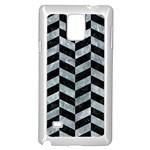 CHEVRON1 BLACK MARBLE & ICE CRYSTALS Samsung Galaxy Note 4 Case (White)