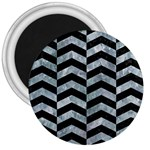 CHEVRON2 BLACK MARBLE & ICE CRYSTALS 3  Magnets