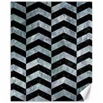 CHEVRON2 BLACK MARBLE & ICE CRYSTALS Canvas 16  x 20