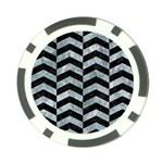 CHEVRON2 BLACK MARBLE & ICE CRYSTALS Poker Chip Card Guard