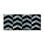 CHEVRON2 BLACK MARBLE & ICE CRYSTALS Cosmetic Storage Cases