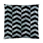 CHEVRON2 BLACK MARBLE & ICE CRYSTALS Standard Cushion Case (One Side)