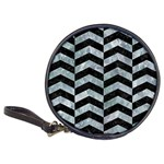 CHEVRON2 BLACK MARBLE & ICE CRYSTALS Classic 20-CD Wallets