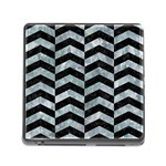 CHEVRON2 BLACK MARBLE & ICE CRYSTALS Memory Card Reader (Square)