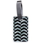 CHEVRON2 BLACK MARBLE & ICE CRYSTALS Luggage Tags (Two Sides)