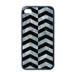 CHEVRON2 BLACK MARBLE & ICE CRYSTALS Apple iPhone 4 Case (Black)