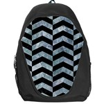 CHEVRON2 BLACK MARBLE & ICE CRYSTALS Backpack Bag