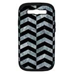 CHEVRON2 BLACK MARBLE & ICE CRYSTALS Samsung Galaxy S III Hardshell Case (PC+Silicone)