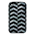 CHEVRON2 BLACK MARBLE & ICE CRYSTALS iPhone 3S/3GS