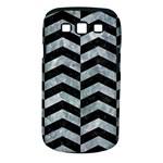 CHEVRON2 BLACK MARBLE & ICE CRYSTALS Samsung Galaxy S III Classic Hardshell Case (PC+Silicone)