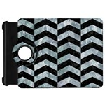 CHEVRON2 BLACK MARBLE & ICE CRYSTALS Kindle Fire HD 7