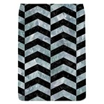 CHEVRON2 BLACK MARBLE & ICE CRYSTALS Flap Covers (S)