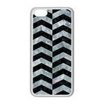 CHEVRON2 BLACK MARBLE & ICE CRYSTALS Apple iPhone 5C Seamless Case (White)