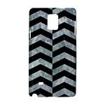 CHEVRON2 BLACK MARBLE & ICE CRYSTALS Samsung Galaxy Note 4 Hardshell Case