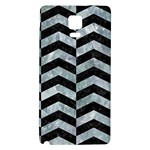 CHEVRON2 BLACK MARBLE & ICE CRYSTALS Galaxy Note 4 Back Case