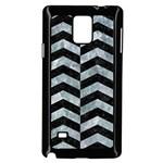 CHEVRON2 BLACK MARBLE & ICE CRYSTALS Samsung Galaxy Note 4 Case (Black)