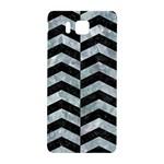CHEVRON2 BLACK MARBLE & ICE CRYSTALS Samsung Galaxy Alpha Hardshell Back Case