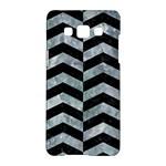 CHEVRON2 BLACK MARBLE & ICE CRYSTALS Samsung Galaxy A5 Hardshell Case