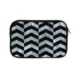 CHEVRON2 BLACK MARBLE & ICE CRYSTALS Apple MacBook Pro 13  Zipper Case