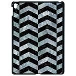 CHEVRON2 BLACK MARBLE & ICE CRYSTALS Apple iPad Pro 9.7   Black Seamless Case