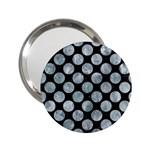 CIRCLES2 BLACK MARBLE & ICE CRYSTALS (R) 2.25  Handbag Mirrors
