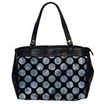 CIRCLES2 BLACK MARBLE & ICE CRYSTALS (R) Office Handbags