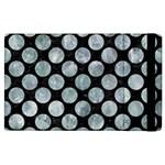CIRCLES2 BLACK MARBLE & ICE CRYSTALS (R) Apple iPad 2 Flip Case